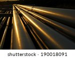 Dramatic View Of Steel Pipes In ...