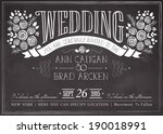 wedding invitation vintage card.... | Shutterstock .eps vector #190018991