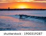 Seal Beach Pier Sunrise Surf
