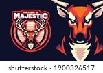 deer with magic antlers sports... | Shutterstock .eps vector #1900326517