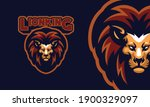commanding a lion's head sports ... | Shutterstock .eps vector #1900329097