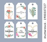 valentines day cards set with... | Shutterstock .eps vector #1900337227