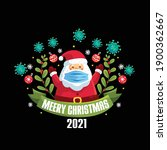 merry christmas 2021 t shirt ... | Shutterstock .eps vector #1900362667