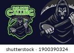 scary grim reaper holding the... | Shutterstock .eps vector #1900390324