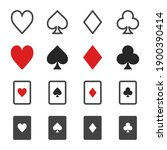 playing card and gambling card... | Shutterstock .eps vector #1900390414