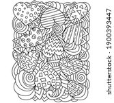 antistress coloring page with... | Shutterstock .eps vector #1900393447