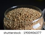 Sesame Seeds In A Open...