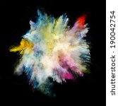 freeze motion of colored dust... | Shutterstock . vector #190042754