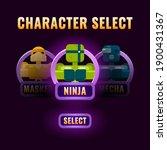 glossy purple game ui character ...