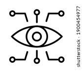 bionic eye icon. thin linear... | Shutterstock .eps vector #1900454977