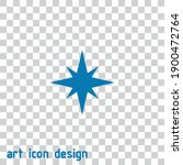 star vector icon on an abstract ...