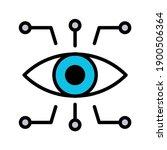 bionic eye icon. thin linear... | Shutterstock .eps vector #1900506364