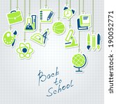 back to school and school icon... | Shutterstock .eps vector #190052771