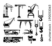 set icons of crane  lifts and... | Shutterstock .eps vector #190053065