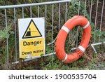 Deep Water Danger Yellow Symbol ...