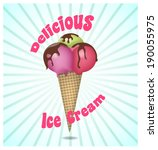 ice cream | Shutterstock .eps vector #190055975