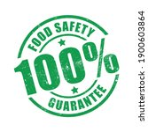 100  food safety guarantee stamp   Shutterstock .eps vector #1900603864