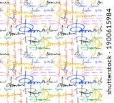 imitation of handwritten text.... | Shutterstock .eps vector #1900615984