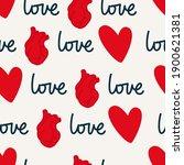 seamless valentines day pattern....   Shutterstock .eps vector #1900621381