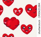 seamless valentines day pattern ...   Shutterstock .eps vector #1900621384