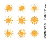 set of sun icons logo vector in ...   Shutterstock .eps vector #1900644967