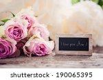 i love you mom  | Shutterstock . vector #190065395