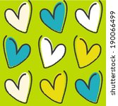 seamless pattern with hearts | Shutterstock .eps vector #190066499