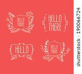 floral design elements | Shutterstock .eps vector #190066724