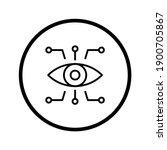 bionic eye icon. thin linear... | Shutterstock .eps vector #1900705867