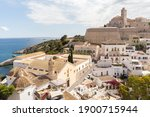 Ibiza Spain Aerial View Of Town ...