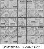grey contours vector topography.... | Shutterstock .eps vector #1900741144