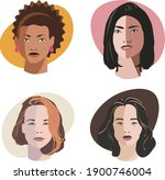 set of drawings of women's... | Shutterstock .eps vector #1900746004