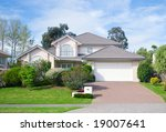 exterior of house in suburb | Shutterstock . vector #19007641