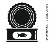 open fish tin can icon. simple...   Shutterstock .eps vector #1900790491