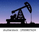 industrial production of oil.... | Shutterstock .eps vector #1900807624