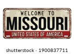 welcome to missouri vintage... | Shutterstock .eps vector #1900837711