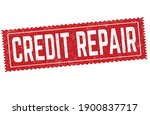 credit repair sign or stamp on... | Shutterstock .eps vector #1900837717
