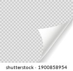 curled page with shadow on... | Shutterstock .eps vector #1900858954