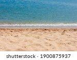 Sandy Beach And Calm Sea ....