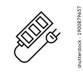 socket icon in trendy line...