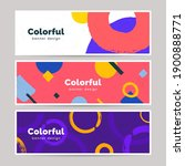 abstract colorful banner set in ... | Shutterstock .eps vector #1900888771