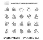 simple set of coins related... | Shutterstock .eps vector #1900889161