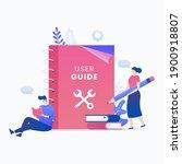 user manual book flat vector...