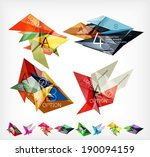 triangle geometric shaped web... | Shutterstock .eps vector #190094159