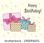 happy birthday design over... | Shutterstock .eps vector #190094651