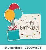 happy birthday design over blue ... | Shutterstock .eps vector #190094675