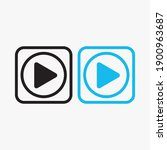 play button icon in trendy flat ...   Shutterstock .eps vector #1900963687