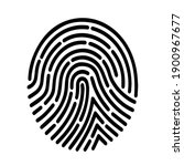fingerprint scan with white...   Shutterstock .eps vector #1900967677