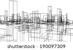city buildings | Shutterstock .eps vector #190097309