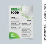 healthy food flyer design ... | Shutterstock .eps vector #1900987591